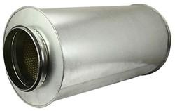 Ronde geluiddemper Ø 100 mm - L=600 mm (sendz. verz.) (50 mm iso)