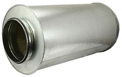 Ronde geluiddemper Ø 200 mm - L=900 mm (sendz. verz.) (50 mm iso)