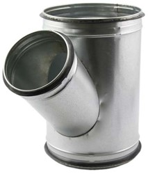 Spiro-SAFE t-stuk 125 mm – 125 mm (45 graden) (sendz. verz.)