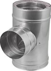 DW diameter  130 mm (130/180) T-stuk T90 EW I316L/I304 (D0,5/0,6)