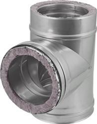 DW diameter  150 mm (150/200) T-stuk T90 I316L/I304 (D0,5/0,6)