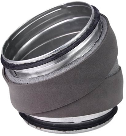 Thermoduct bocht diameter 355 mm 30 graden geisoleerd