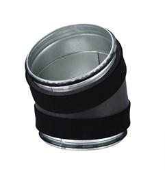 Thermoduct bocht diameter  250 mm 30 graden geisoleerd