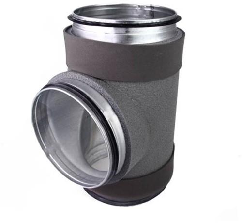 Thermoduct T-stuk diameter 200 mm - 125 mm (90 graden)