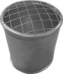 Topsectie open met gaas diameter  80 mm