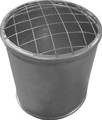 Topsectie open met gaas diameter  600 mm