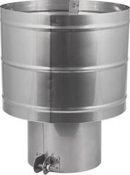Trekkende kap diameter  300 mm I316L (D0,6)