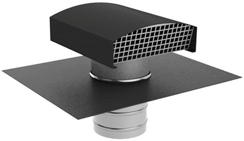 Ubbink Ubvent dakdoorvoer Ø 160mm aluminium antraciet met indekstuk