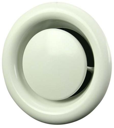 Ventilatie afvoer ventielen metaal Ø 100 mm wit met klemveren - DVSC100