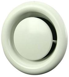 Ventilatie afvoer ventielen metaal Ø 125 mm wit met klemveren - DVSC125