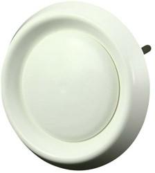 Ventilatieventiel kunststof Ø 100 mm wit (met klemveren) (DAV100)