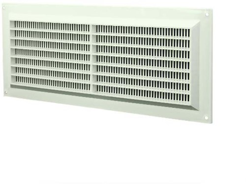 Ventilatierooster kunststof 130mm x 300mm wit rechthoekig met grill (VR1330)