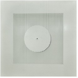 Plafondrooster 200 toevoer + plenum zijaansluiting - TS0I-T-ØD-S