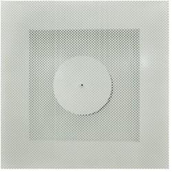 Plafondrooster 315 toevoer + plenum zijaansluiting - TS0I-T-ØD-S