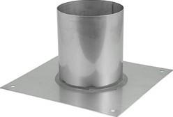 Vloerplaat diameter  130 - 200 mm gelaste opstand I304
