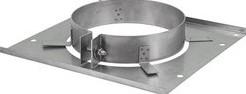 Vloerplaat diameter  310 - 400 mm met beugel I304