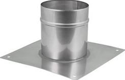 Vloerplaat diameter  310 - 400 mm opstand I304