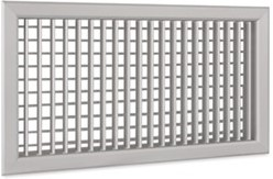 Wandrooster A-1-2 500x200-H-RAL9010 instelbaar