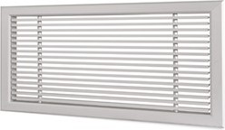 Wandrooster L-1-2 600x100-H-1-12,5-RAL9010