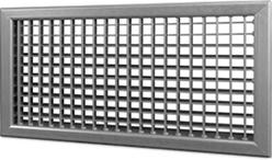 Wandrooster B-2-2 500x400-H instelbaar