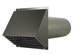 Thermoduct geïsoleerde geveldoorvoer Ø 125mm zwart (MR-125)