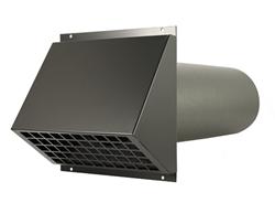 Thermoduct geïsoleerde geveldoorvoer Ø 200mm zwart (MR-200)