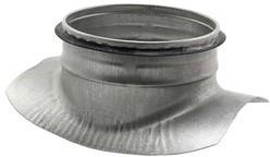 Spiro-SAFE zadelstuk dia 450mm - met aftakking naar 160 mm (90 graden) (sendz. verz.)
